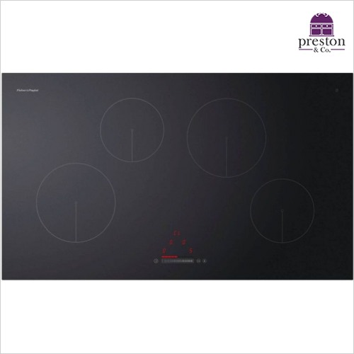 Fisher & Paykel - 900mm Wide Touch & Slide Control Frameless 4 Zone Induction