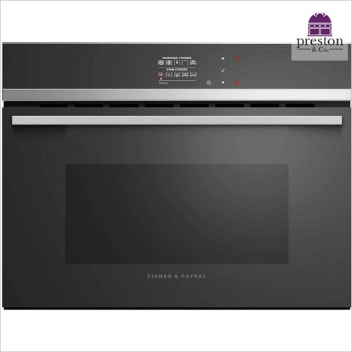 Fisher & Paykel - Designer Electronic Control Combination Steam Oven & Grill