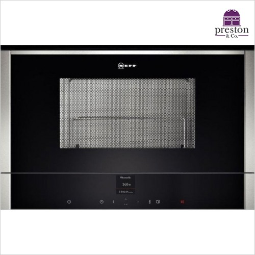Neff - N70 Compact Microwave Oven 900W, 21L, LH Hinged