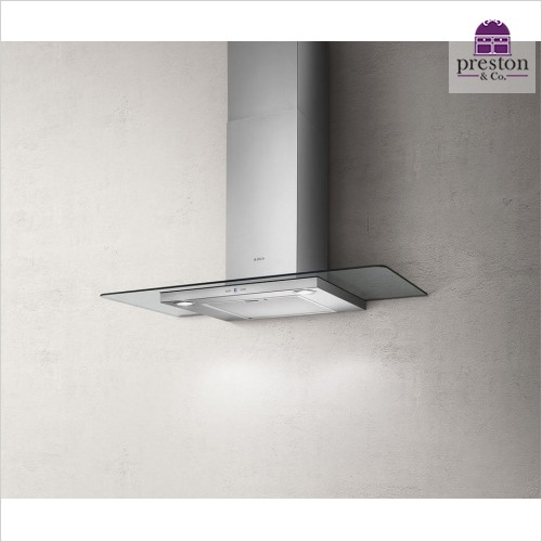 Elica - Tribe Flat Glass Wall Mounted Hood 900mm
