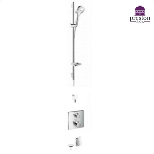 Hansgrohe - Square Valve With Raindance Select Rail Kit & Exafill