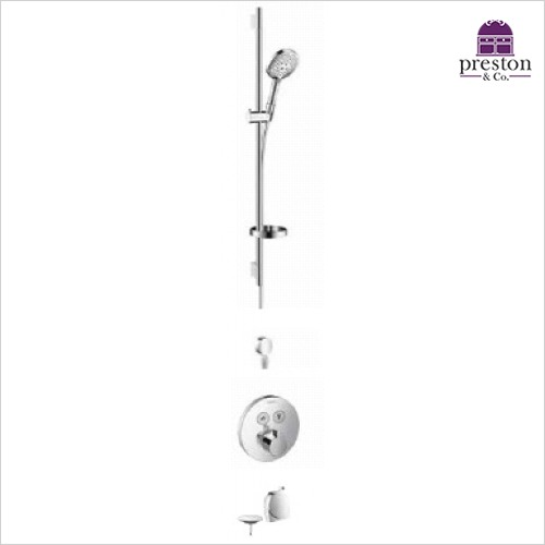 Hansgrohe - Round Select Valve With Raindance Select Rail Kit & Exafill