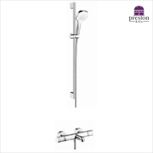 Hansgrohe - Soft Cube Croma Select Rail Kit With Bath/Shower Valve