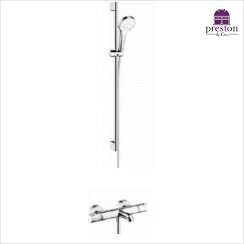 Hansgrohe - Round Croma Select Rail Kit With Bath/Shower Valve