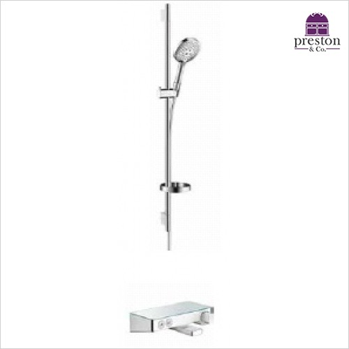 Hansgrohe - Round Raindance Select Rail Kit W/Select Bath/Shower Valve